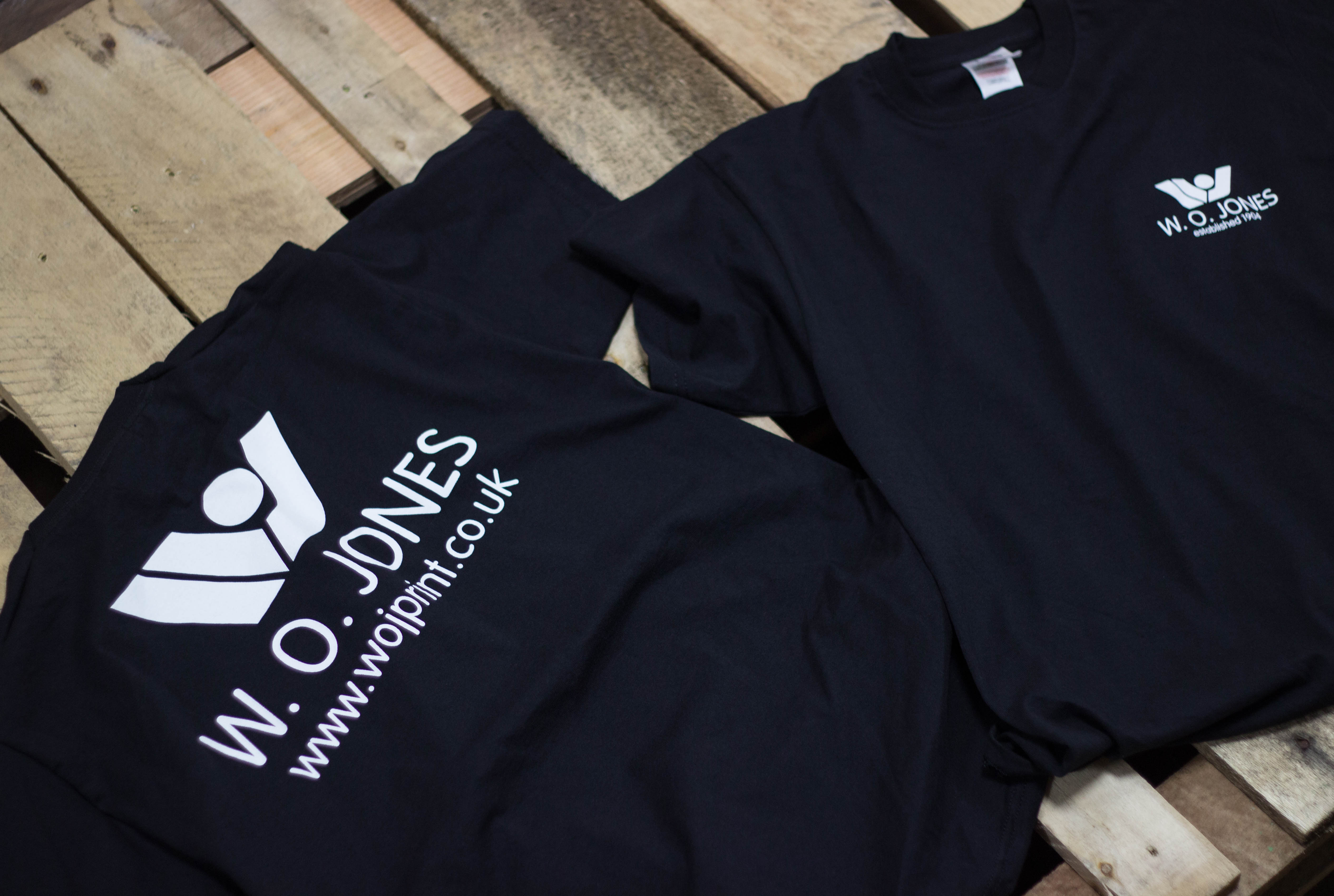 t shirt printing, merch printing, screen printed clothing, w.o. jones printers, north wales, south wales, swansea, wales, printed clothing, screen printing, screen printing wales, back flood press