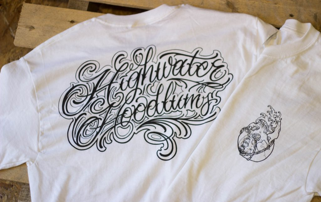 tattoo swansea, highwater hoodlums, ammanford, wales, screen printing, t shirt printing in wales, screen printing in swansea, printed clothing, custom tshirts, streetwear printing, back flood press, clothing brand, merch printing, south wales