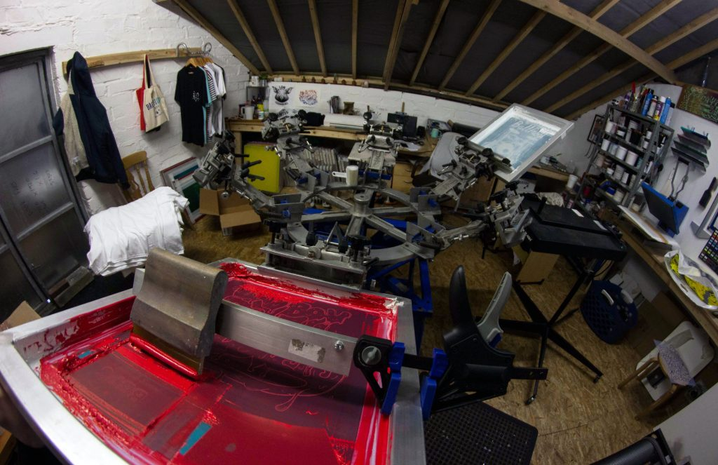 wales, screen printing, t shirt printing in wales, screen printing in swansea, printed clothing, custom tshirts, streetwear printing, back flood press, clothing brand, merch printing, south wales